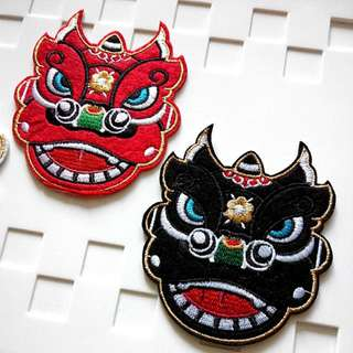 Lion Head Dance Troupe Iron On Patch