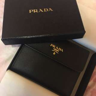 💯Prada 銀包 Wallet in Black