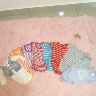 PRICE REDUCED! Carter's baby boy body suit up to 9 months 10 pcs for rm40