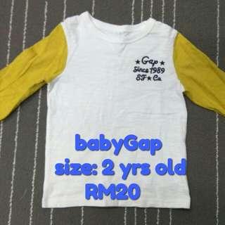 babyGap T-shirt, 2 yrs old (Preloved)