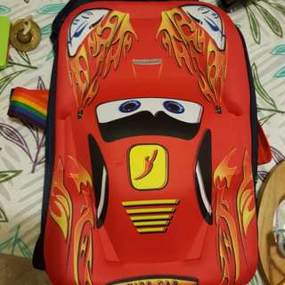 Cars Backpack with 3-D Hard Shell casing