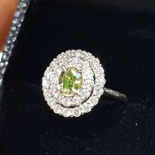 Gia 全天然綠色鑽石