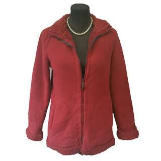 Red thick fleece jacket