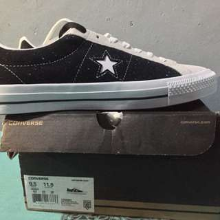 Converse one star pro ox (black & white)