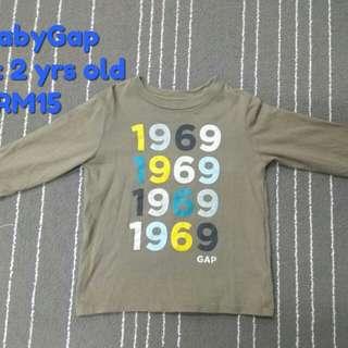 babyGap T-shirt, size 2 yrs old (Preloved)