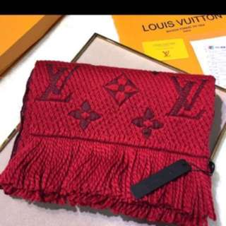Authenthic Dual color LV Logo Mania scarf
