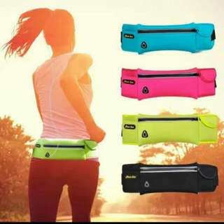 Waist belt sports runner fitness pouch