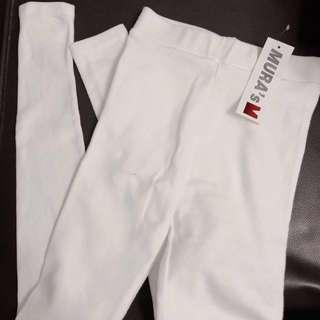 韓國製靚料白色leggings