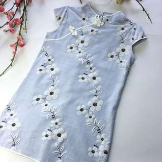 (Sale) Kids Embroidered Cheongsam