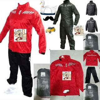 1202*** Givi Raincoat RRS04 Black & RED 🤣🤣Thanks To All My Buyer Support 👌👌