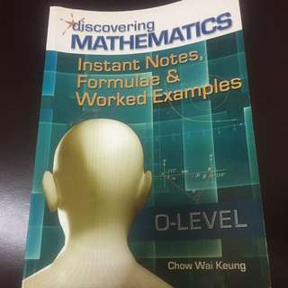 O Level Instant Notes, Formulae & Worked Example