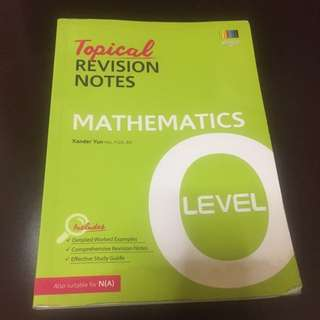 O Level MATHS Topical Revision Notes