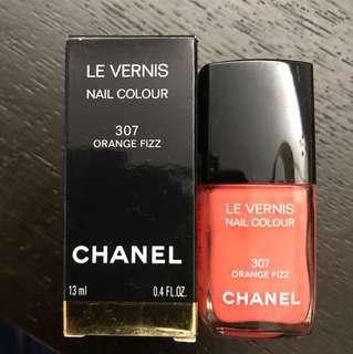 Chanel Nail Color 307 Orange Fizz