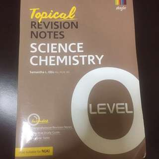 O Level Science Chemistry Topical Revision Notes