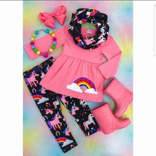 ❤INSTOCK❤ Abby's Rainbow Girl Top and Pants Set