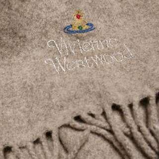 Vivienne Westwood grey long scarf lambswool