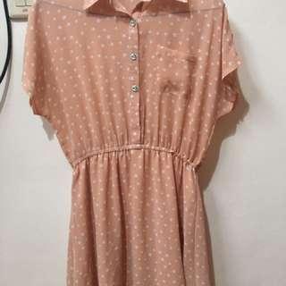 Peach / Cream Dress