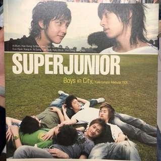 絕版Super Junior Boy in City 寫真(附DVD)