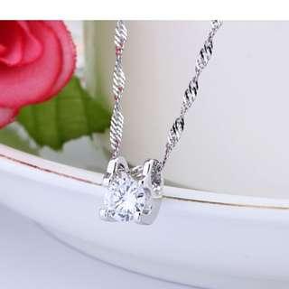 韓國純銀925水晶吊墜 情人節 禮物 女朋友 自用