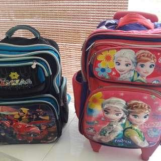 Kids School Trolly 6 wheel's Bag