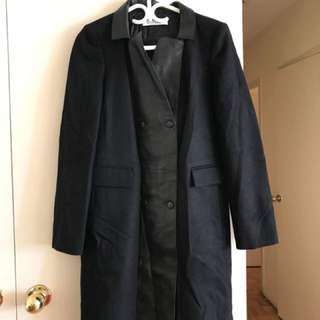Women's black trench coat