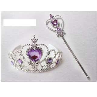 [Juniorcloset] 🆕 Princess crown Princess tiara Princess wand Fairy wand Sofia Rapunzel