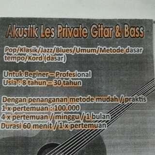 Private Classic Guitar (trainner datang ke rumah)