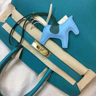 🎁Brand New Hermes Rodeo PM size in Blue Celeste/ Malachite/ Craie 愛馬仕馬仔 Charm not Birkin Kelly Lindy chanel fendi celine 情人節 新年禮物