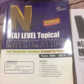 NA Level Topical Maths past years paper