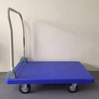 Almost New Platform Flat Foldable Delivery Trolley (350kg)