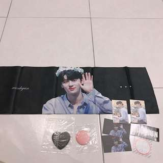 WTS NUEST WANNA ONE MINHYUN JR SLOGAN SET