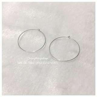 Silver Loop Earrings (Light Weight/Slim)