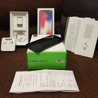 Bentang Adik 1 DAY OLD : iPhone X 256GB Space Gray Globe Locked
