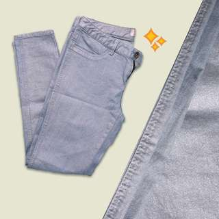 Giordano metallic denim pants