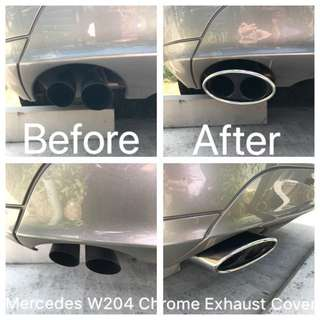 Mercedes W204 Chrome Exhaust Cover