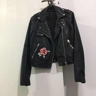 Zara Embroidery Bomber Jacket