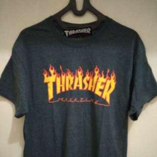 Flame logo T-shirt (dark heather color)