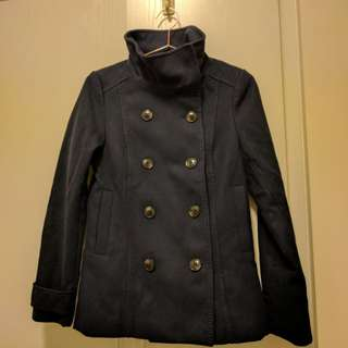 H&M winter coat (navy)