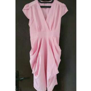 Dress pesta pinky