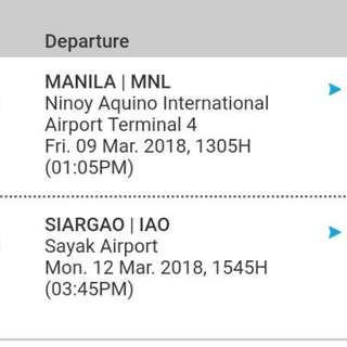Siargao ticket