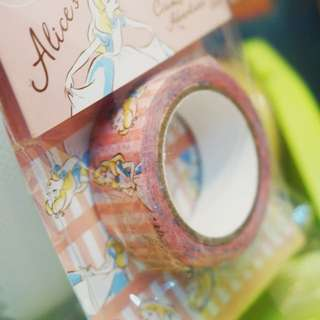 Alice in wonderland Masking tape 愛麗絲夢遊仙境紙膠帶