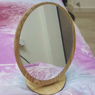 BN Wooden Mirror With Stand