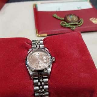 Authentic Rolex Oyster Perpetual Date Salmon Pink Dial