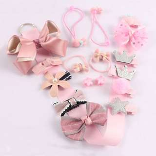 🦁Instock - 18pc assorted hair accessories, baby infant toddler girl children glad cute 123456789