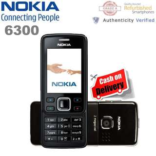 Original Nokia 6300 Refurbished Unlocked Bar Phone ( BLACK ) - CASH ON DELIVERY!