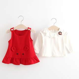 High Quality Tutu Korean Style Baby Girl Two-piece Sets (2 Pcs)