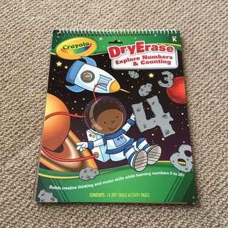 Crayola dry erase book