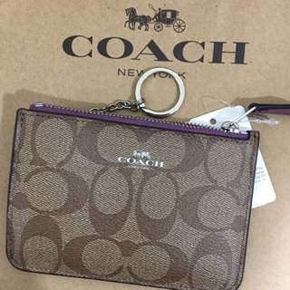 🚚 Coach 防刮logo鑰匙零錢包