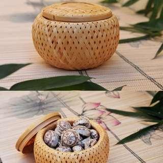 🚚 竹編茶葉罐