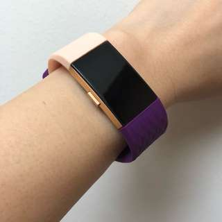 Fitbit Charge 2 Beige/Purple Straps in 'S'